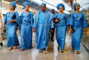 "While Alaafin and his four wives shop in London, his ""people"" gossip about them"